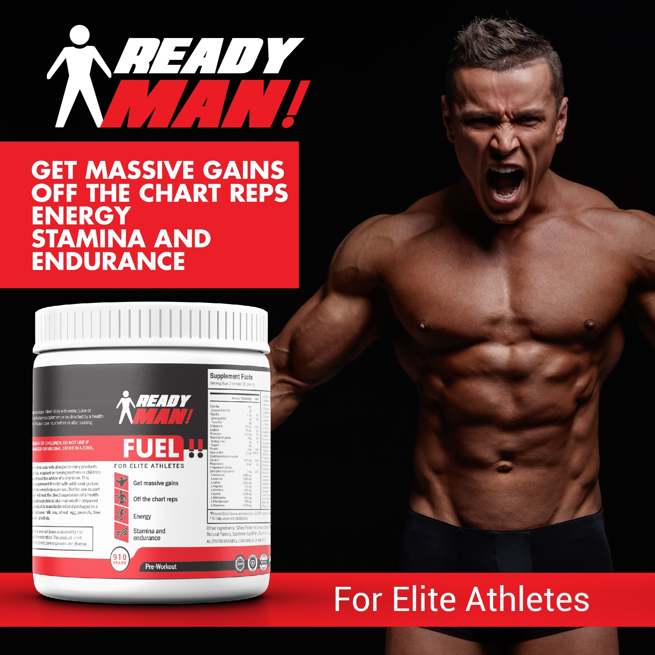 Ready Man ! Supplements - Fuel for Elite Athletes (Pre-Workout)